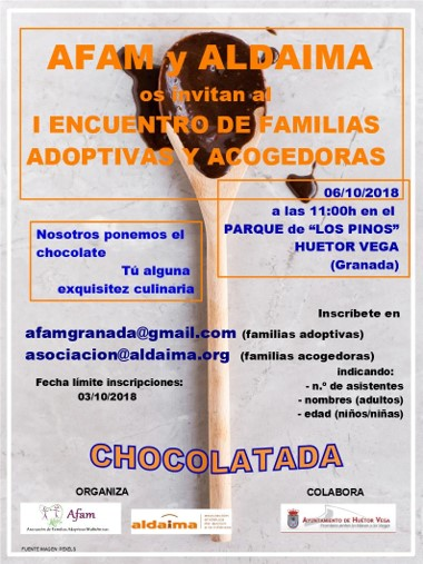 I ENCUENTRO DE FAMILIAS ADOPTIVAS Y ACOGEDORAS . Chocolatada.